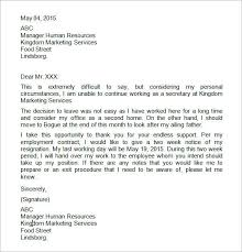 two weeks notice letter format u2013 letter format writing two weeks