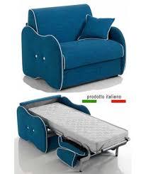 divanetto letto poltroncina letto singola con materasso un posto incluso