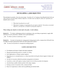 Sample Career Objective Statements Career Objective Examples For Technical Support