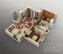 3d floor plans one bedroom 3d floor plan net zero village 17