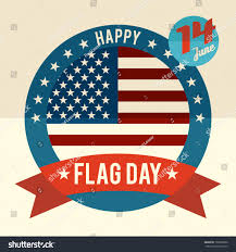Flag Day Images Flag Day United States Flat Design Stock Vector 197090630