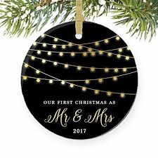 as mr mrs ornament 2017 1st married