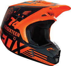 orange motocross helmet 2016 fox racing v2 union helmet motocross dirtbike offroad atv