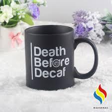 wholesale matt black color custom ceramic coffee mugs buy