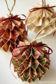 35 best paper baubles christmas decorations images on pinterest