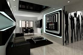 Cozy White And Black Living Room Exquisite Ideas Black And White - Interior design black and white living room