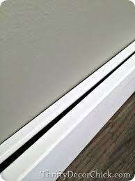 trim baseboard how to install new baseboards without removing the old from thrifty