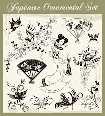 vector set of traditional japanese ornaments and
