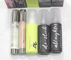 new urban decay primers setting sprays review blushing noir