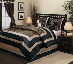 Asian Bedding Set Asian Comforter 2 Asian Inspired Bedding 7 Pc Black And Gold