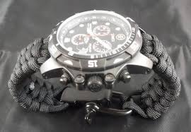 survival bracelet watches images Paracord watch band how to make your own jpg