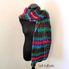 autumn chill angled super scarf u2014 left in knots