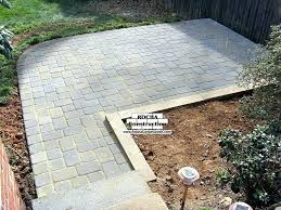 Cost Paver Patio Paver Patio Cost Snaptrax Co