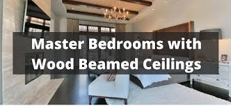 Lighting For Beamed Ceilings 95 Master Bedrooms With Wood Beamed Ceilings For 2018
