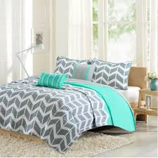 intelligent design nadia teal u0026 grey coverlet set full queen