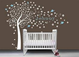 Nursery Wall Decals Canada White Tree Boy Nursery Wall Decals Birds Handmade Premium Quality