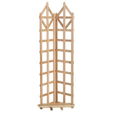 arboria deco 70 in cedar freestanding trellis 8601340 the home
