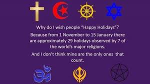 no happy holidays isn t a way of respecting all religions