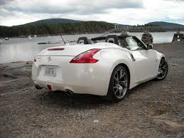 nissan convertible on the road review nissan 370z roadster the ellsworth