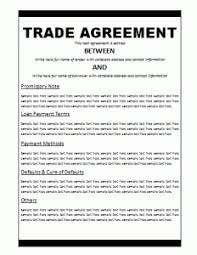 free business trade agreement template free word templates