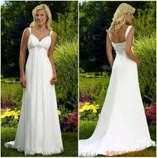 turmec empire waist spaghetti strap wedding dress