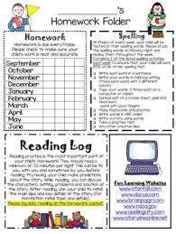 homework folder and newsletter template editable tpt