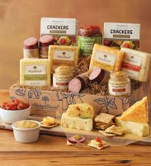 cheese gift baskets gourmet sausage and cheese gift meat and cheese gift baskets