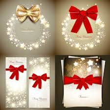 christmas invitations christmas invitations with bow vector vector graphics