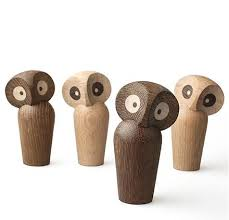 nordic wood owl ornaments handmade wood furnishings home