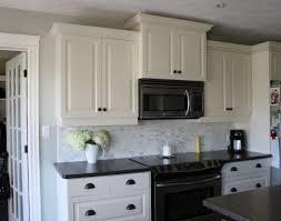Kitchen Backsplash Dark Cabinets by Backsplashes For White Cabinets Black Countertops Home