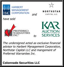 afc dealer floor plan colonnade advises harbert management on its sale of preferred