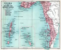 British India Map by Burma Colony