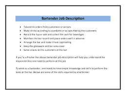Chef Job Description Resume by Bartender Resume Sample Pdf Resume Samples Restaurants Bars