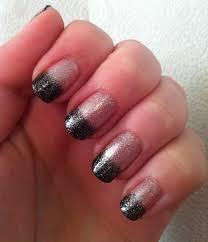 nail arts cute black nail polish designs with glitters black