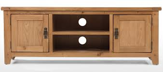 Rustic Oak Plasma TV Stand Quercus Living - Corner cabinets for plasma tv