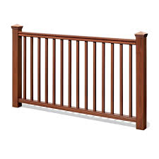 kontiki deck railing synthetic wood kit cedar handrail 42