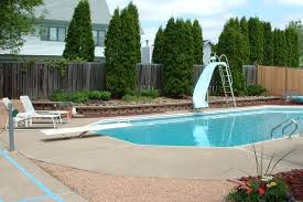 pool landscaping ideas amazing modern style pool landscaping ideas wooden fence design