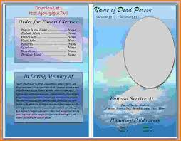 template funeral program free funeral program template microsoft word letterhead template
