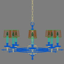 circa lighting leaf and arrow chandelier 3d model max obj 3ds fbx mtl