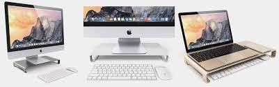 Monitor Pedestal Stand Aluminum Stand Puts Apple Monitors On Fitting Pedestal Cult Of Mac