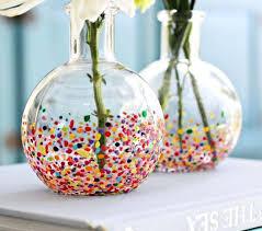 Glass Vase Painting Robin Mix Art Glass Vase Patchwork Design Glass And Ceramic Vases