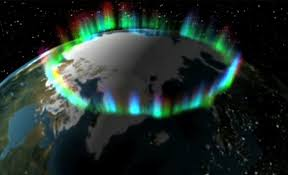 where are the northern lights located the northern auroral oval is centered on the north geomagnetic pole