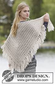 drops design poncho calgary pretty and easy to make shawl with lace pattern and
