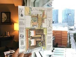100th hotel room drawing in las vegas urban sketchers