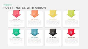 post it notes with arrow powerpoint and keynote template slidebazaar