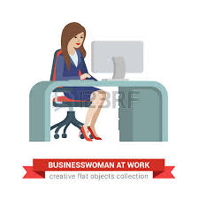 chief accountant flat style isometric young pretty beautiful businesswoman