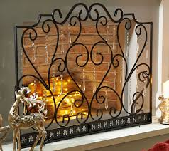 antique bronze fireplace screen with 24 faceted prisms by valerie