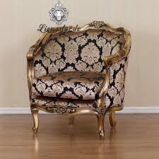 Esszimmerstuhl Venezia Luxus Sessel Barock Mahagoni Gold Blume Lionsstar Gmbh