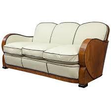 deco sofa european antique walnut italian leather deco sofa from