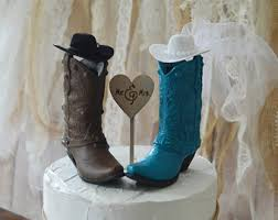 western wedding cake topper western cowboy boots wedding cake topper western
